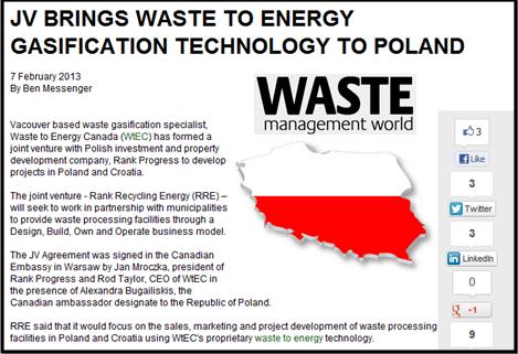 אריאל מליק - מתקני הפסולת לאנרגיה מגיעים גם לפולין